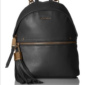 Lynn Backpack by Calvin Klein in Black Leather
